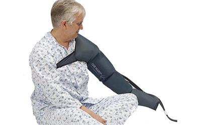 LX9 compression pump arm oedema