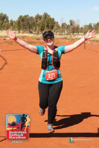 running a a marathon with lympohedema